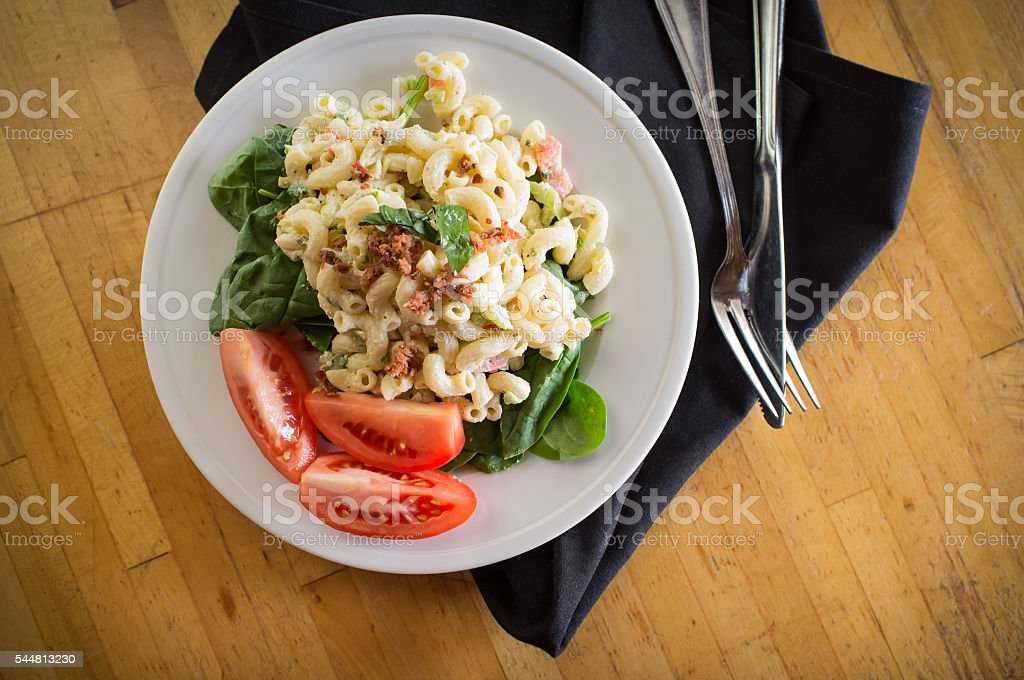 Macaroni Salad and Veggies stock photo