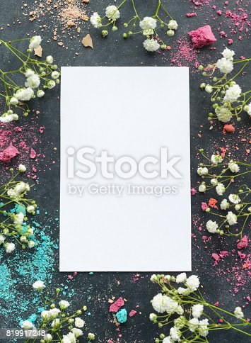 istock Macaroons and greeting card 819917248