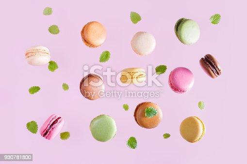 istock Macaroons cookies on pink 930781800