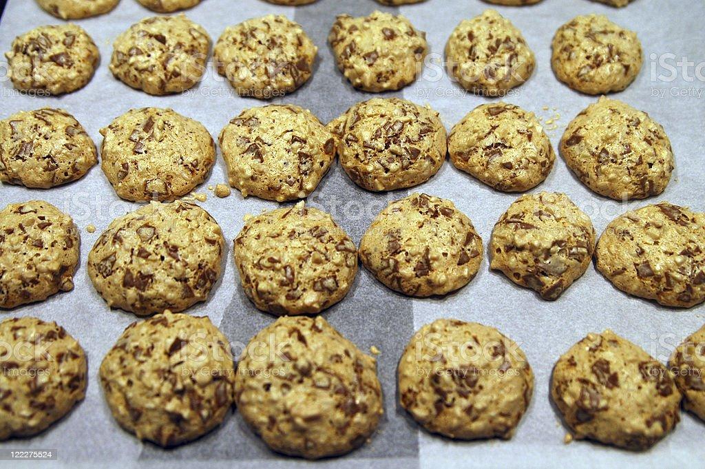macaroons on a baking tray stock photo