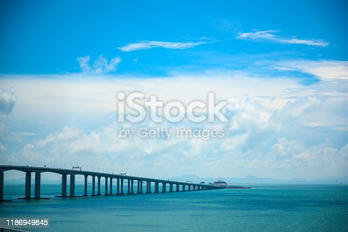 Macau bridge, the longest bridge of Asia