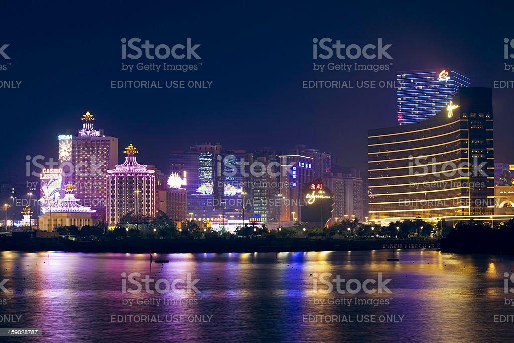 Macau casinos stock photo