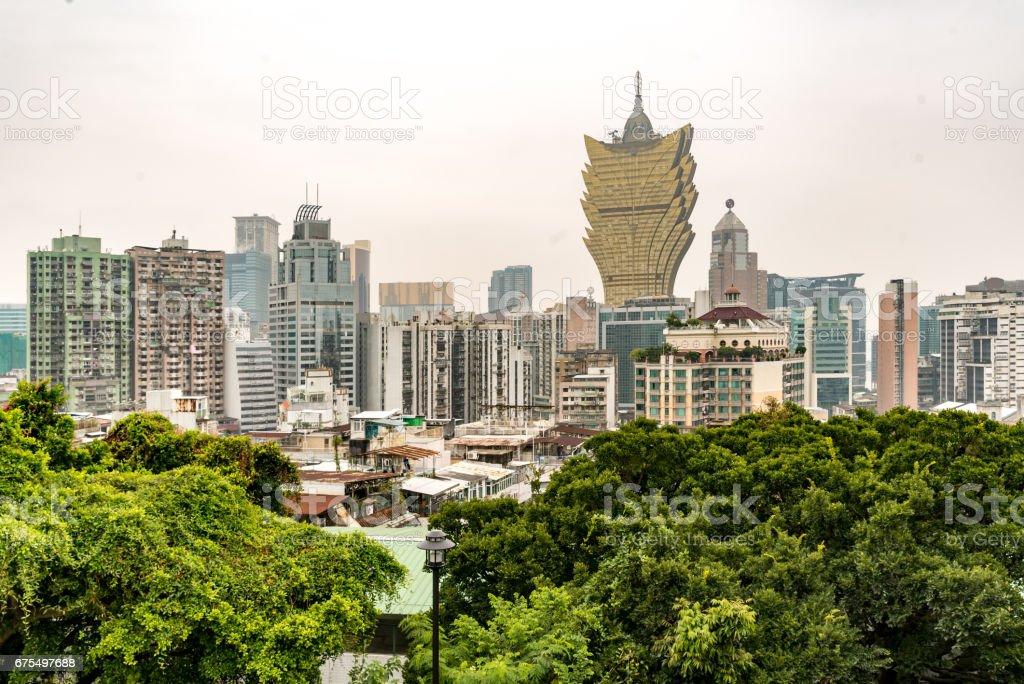 Macau old town royalty-free stock photo