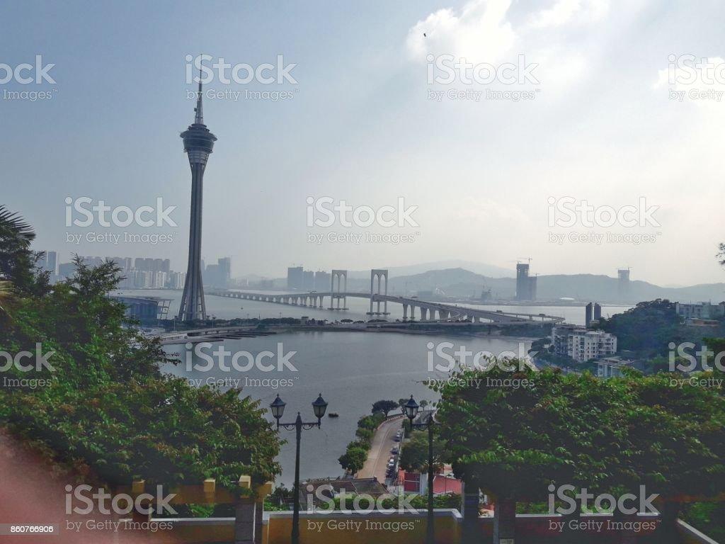 Macau Tower stock photo