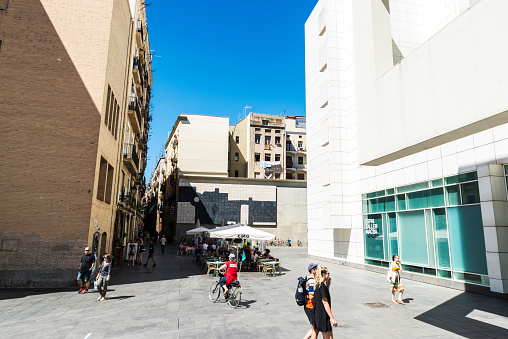 Macba museum in the old town of Barcelona, Spain