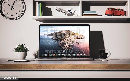 1202959798istockphoto Macbook Pro 16 inch with touchbar front view 1202957684