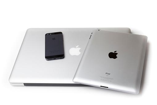 MacBook Pro, iPad and iPhone