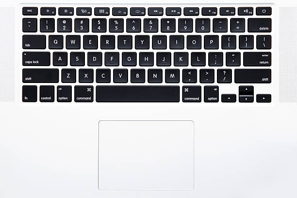 MacBook Pro teclado - foto de stock