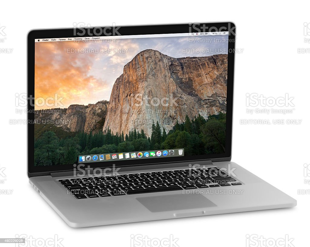 MacBook Pro retina stock photo