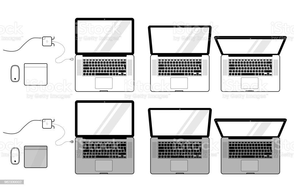 Macbook のベクトルを設定 ストックフォト