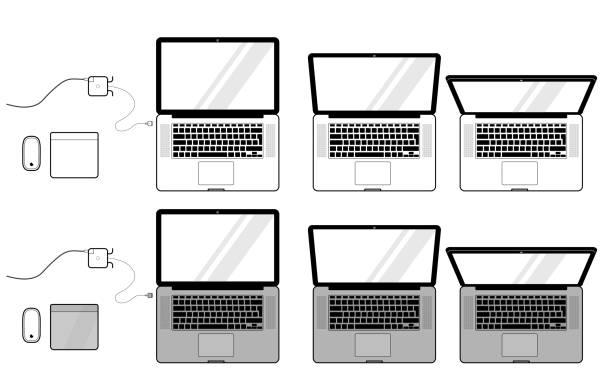 Macbook Vector Set stock photo