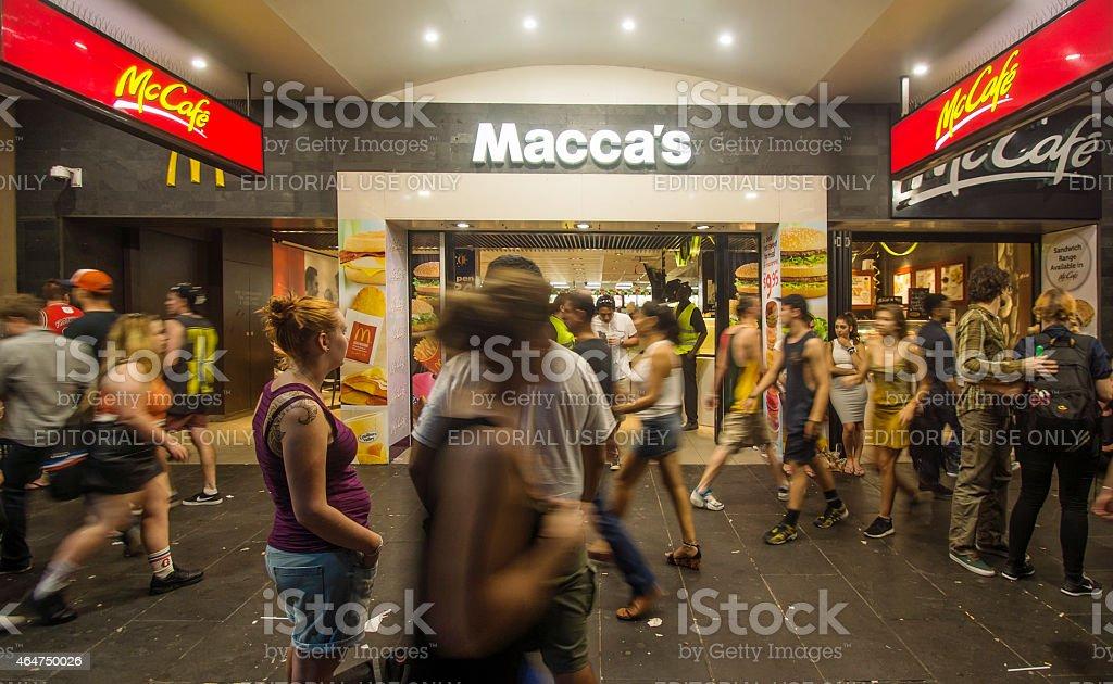 Macca's stock photo