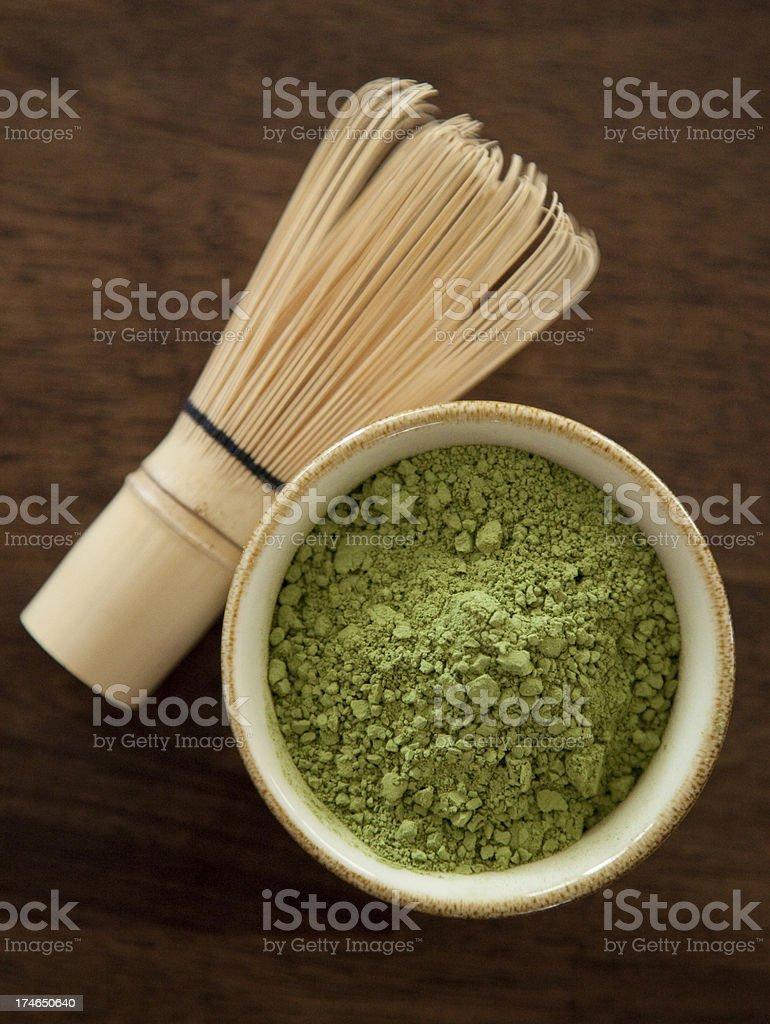 Maccha and Bamboo Whisk Series 2 royalty-free stock photo