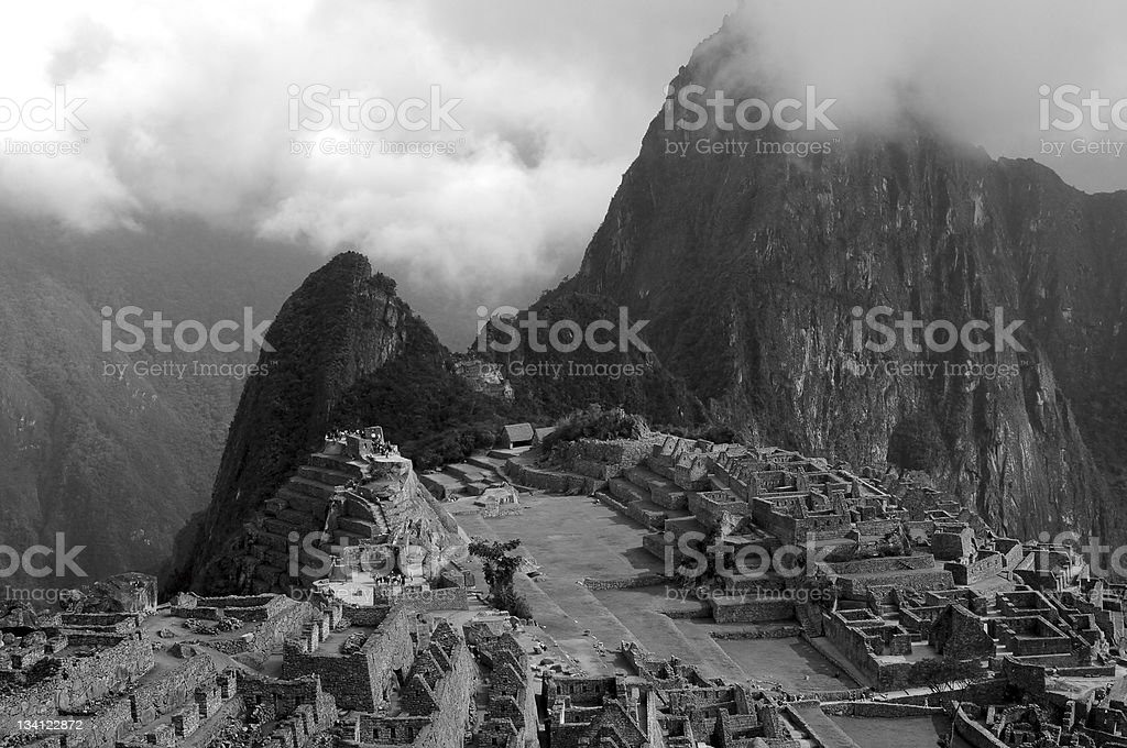Macchu Picchu by the Clouds royalty-free stock photo
