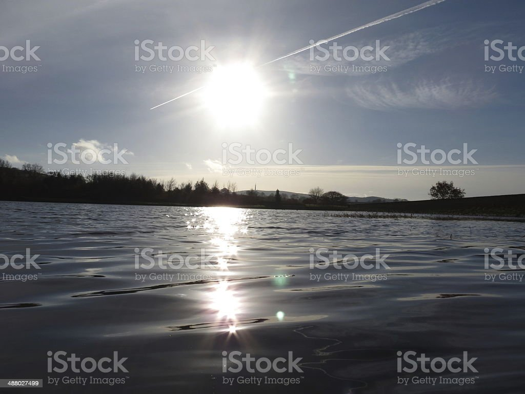 Macclesfield, Cheshire, Rservoir, Sunset stock photo
