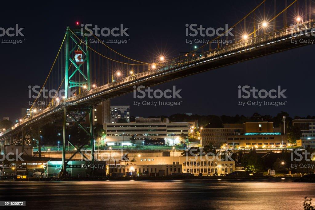 MacDonald Bridge stock photo