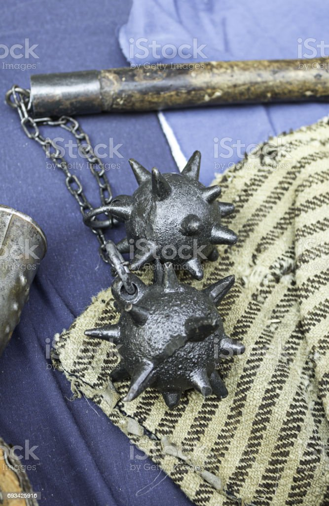 Mace of torture stock photo
