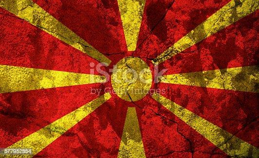 935056316istockphoto Macedonia flag on stone 577952854