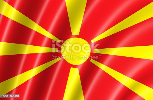686175420 istock photo Macedonia Flag 483150055