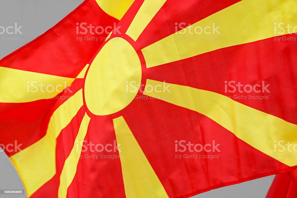 Macedonia Flag royalty-free stock photo