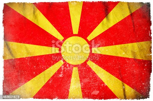 istock Macedonia grunge flag 463601673