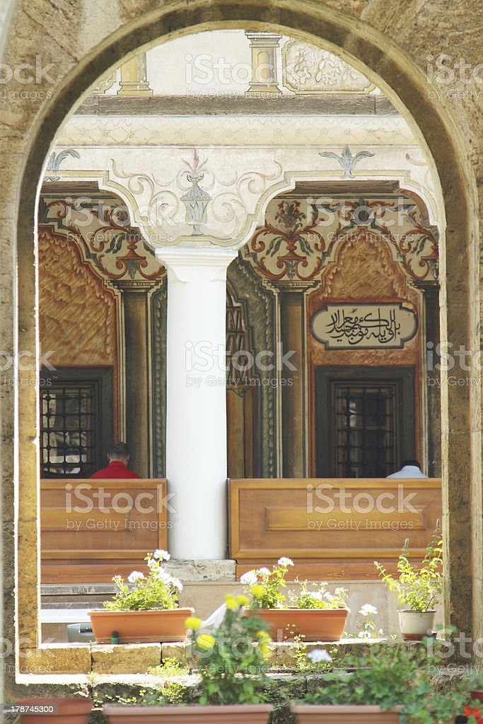 Macedonia, Tetovo, Decorated Mosque stock photo