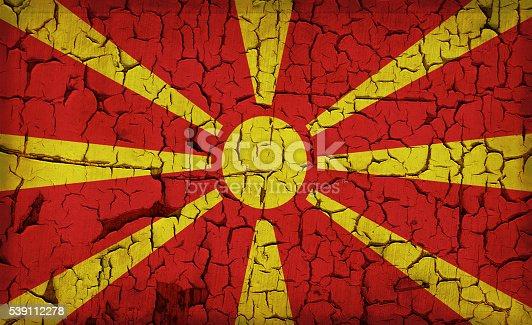 935056316 istock photo Macedonia - vintage flag 539112278