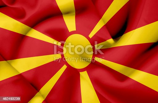 istock Macedonia waving flag 462493239