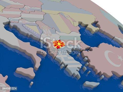 istock Macedonia with flag 544581324
