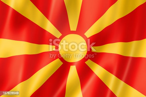 1056280906istockphoto Macedonian flag 157628549