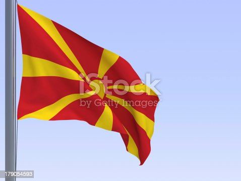 istock macedonian flag 179054593