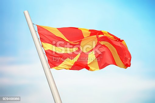 686175420 istock photo Macedonian flag 929468986