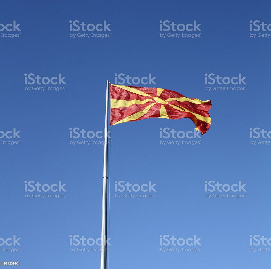 Macedonian flag royalty-free stock photo