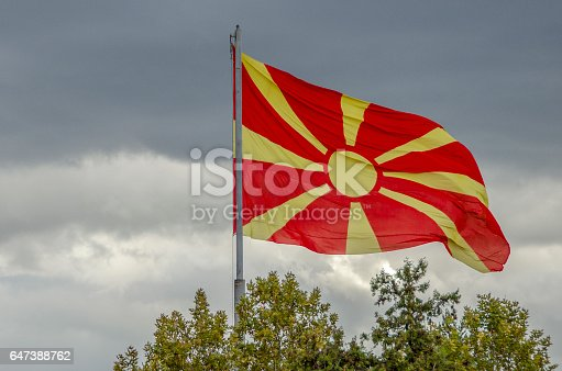 1056280906istockphoto Macedonian Flag waving 647388762