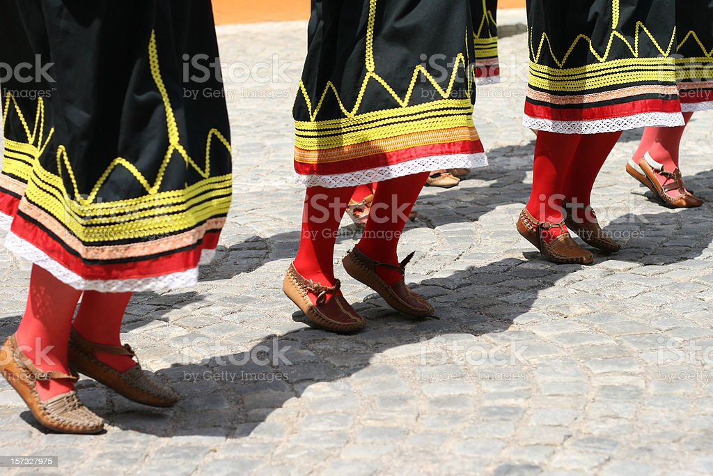 macedonian folkloristic dance royalty-free stock photo