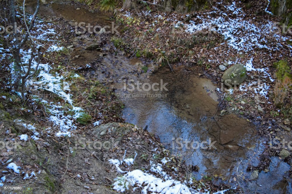 Macedonian forest and mountains near Strumica town royalty-free stock photo
