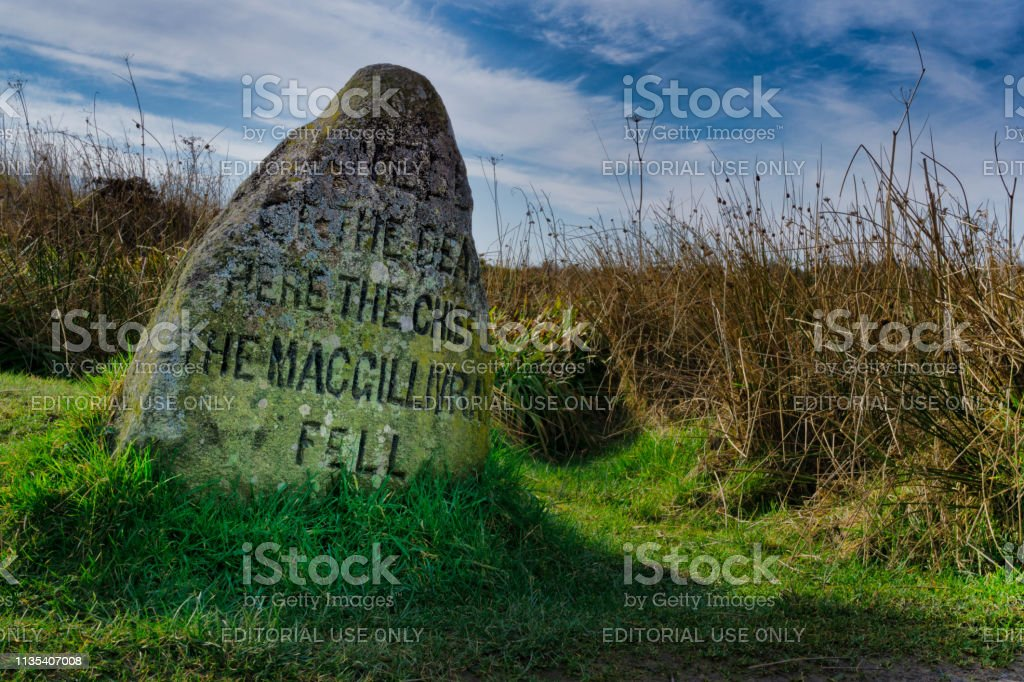 Macgillivray Clan Chief Grave Tombstone On Culloden Battlefield