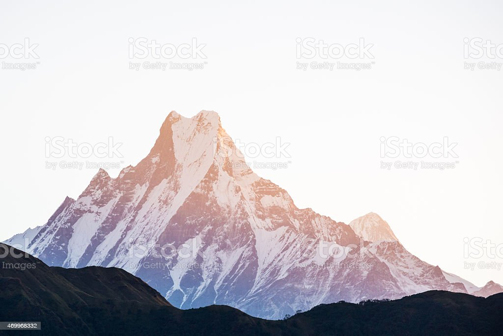 Machapuchare Sunset stock photo