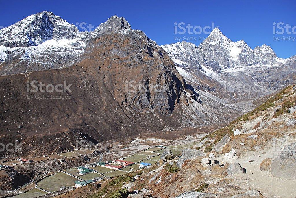 Machermo valley, Himalayas, Nepal royalty-free stock photo
