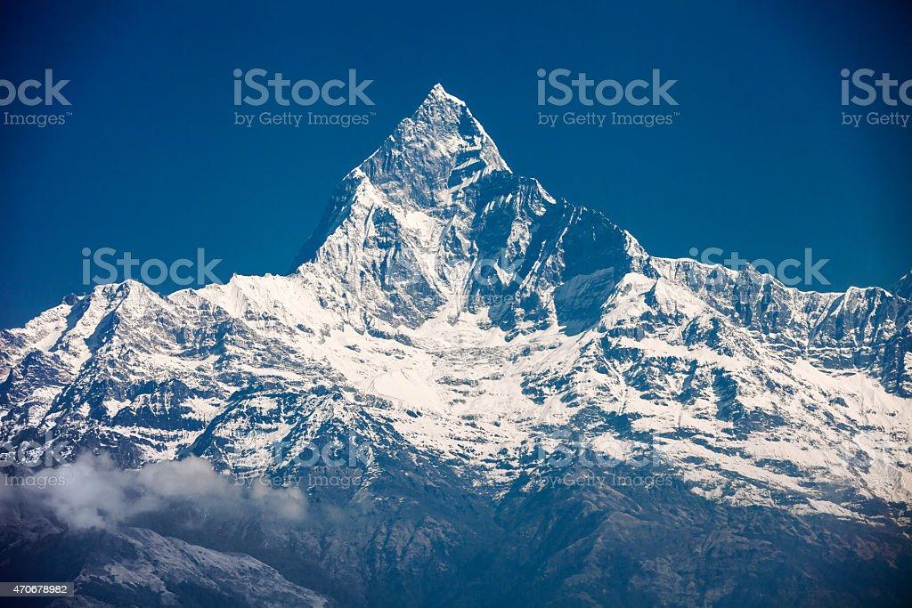 Machhapuchchhre mountain stock photo