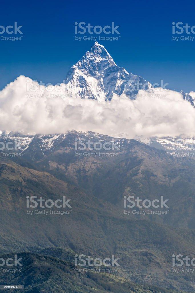 Machhapuchhre and Annapurna mountains stock photo