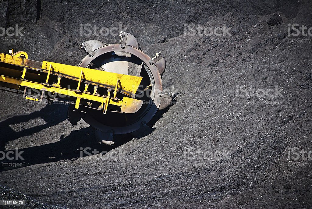 machine and coal stock photo