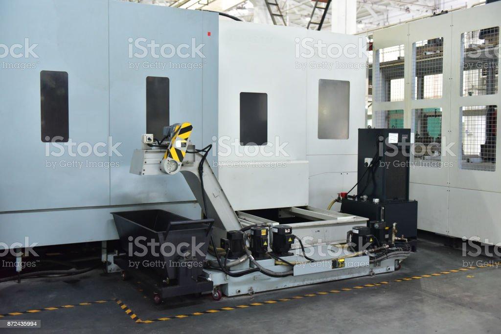 CNC machine automatic chip conveyor in chongqing,china stock photo
