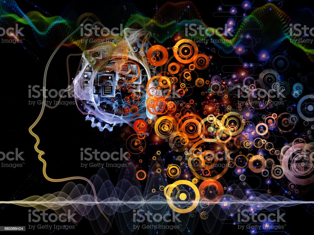 Machine Consciousness Backdrop stock photo