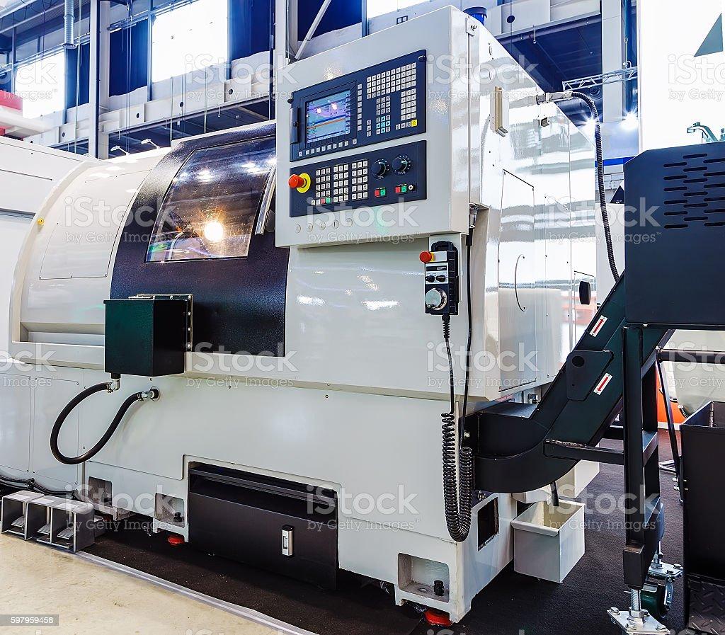 machine control panel CNC stock photo