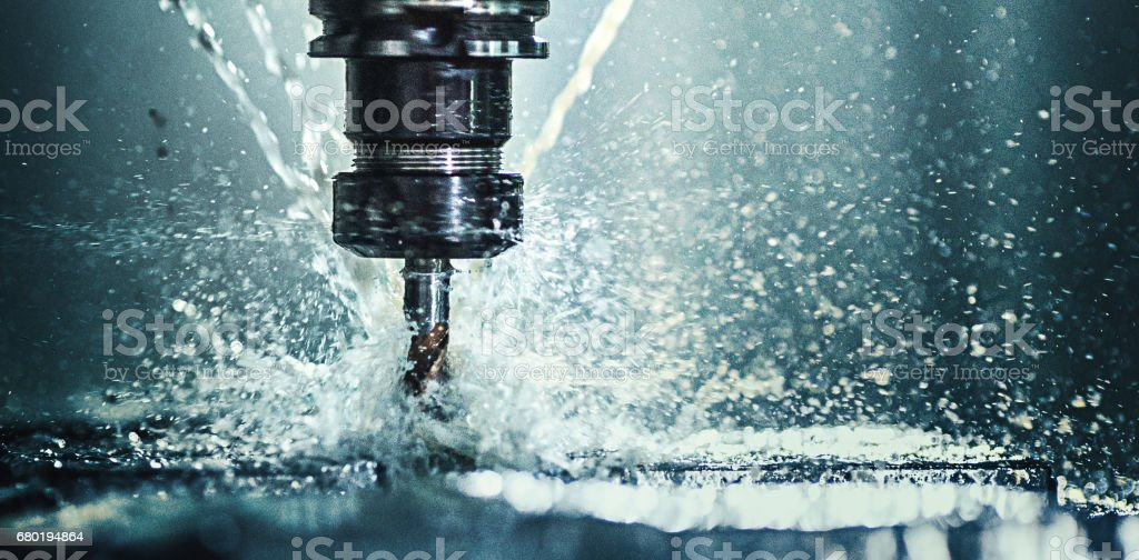 CNC machine drill. stock photo