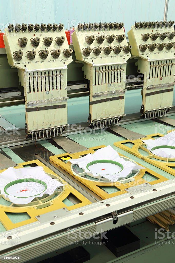 Machine embroider stock photo