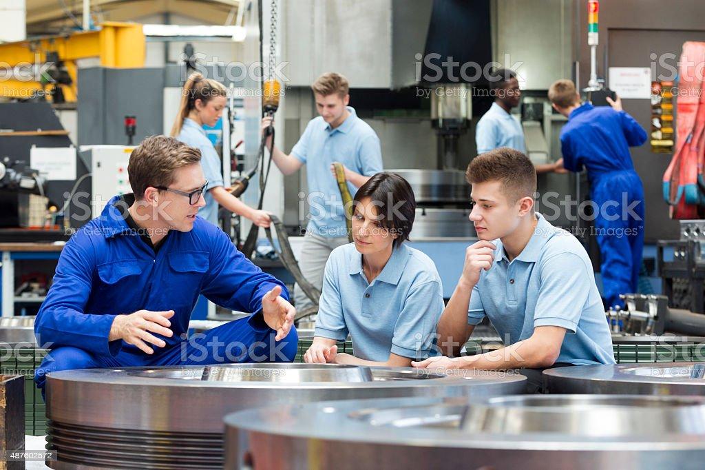 Maschine Fabrik Arbeiter - Lizenzfrei 2015 Stock-Foto