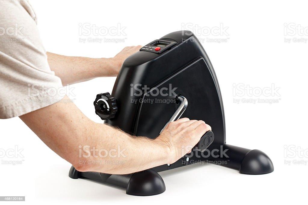 Machine for Arm Exercise stock photo