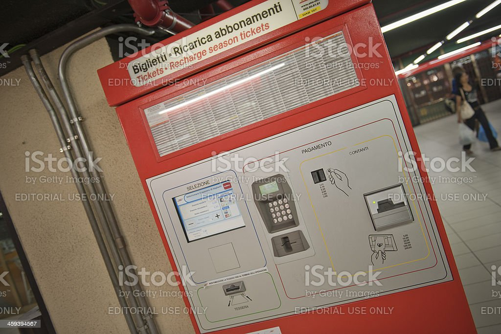 Machine for Buying Metrocard and tickets royalty-free stock photo
